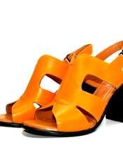 صندل زنانه آر اند دبلیو مدل 654 رنگ پرتقالی -  - 4