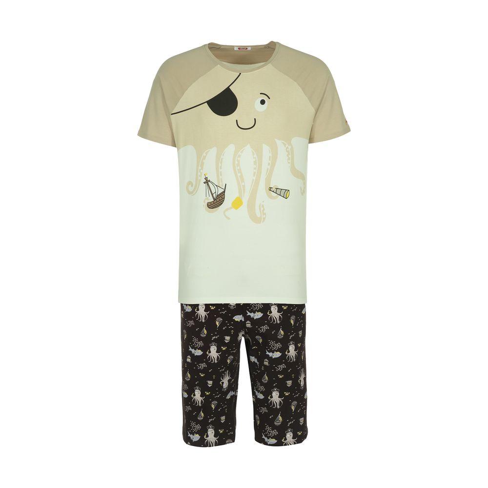 ست تی شرت و شلوارک راحتی مردانه مادر مدل 2041107-07