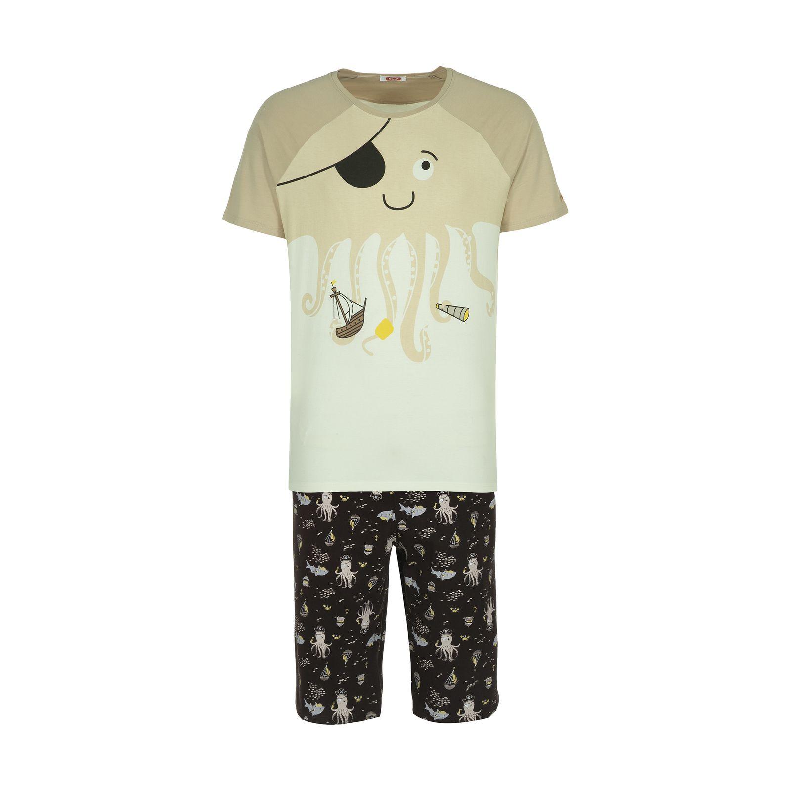 ست تی شرت و شلوارک راحتی مردانه مادر مدل 2041107-07 -  - 2