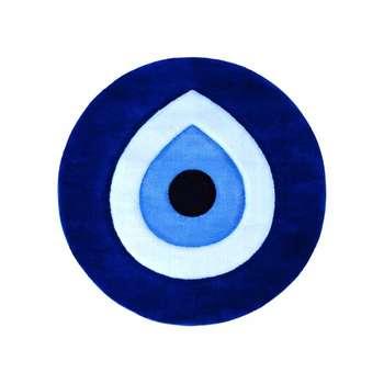 بشقاب دیوارکوب سفالی طرح چشم زخم مدل 5566