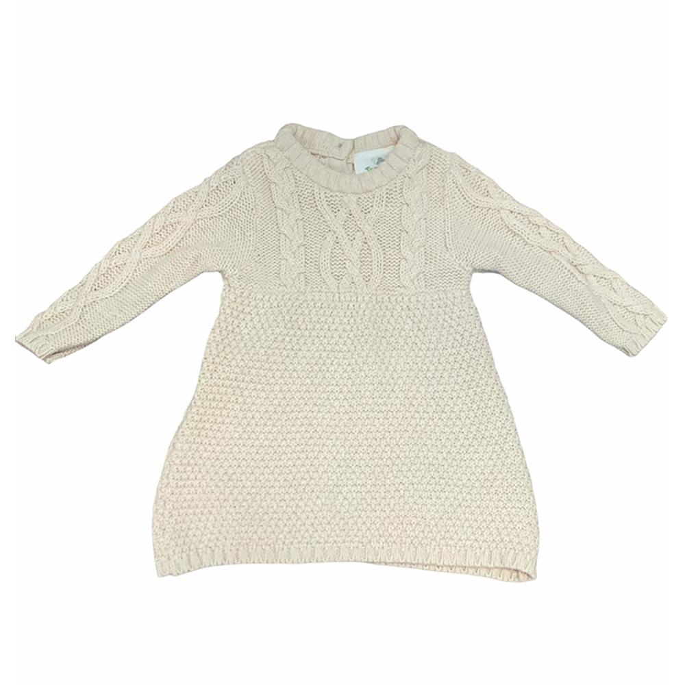 پیراهن بافتنی نوزادی توپومینی مدل C-SMP