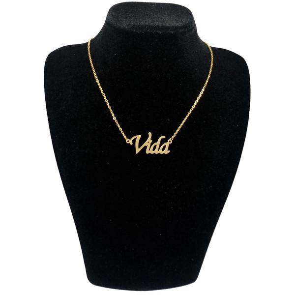 گردنبند آی جواهر طرح نام ویدا کد 1100107GE