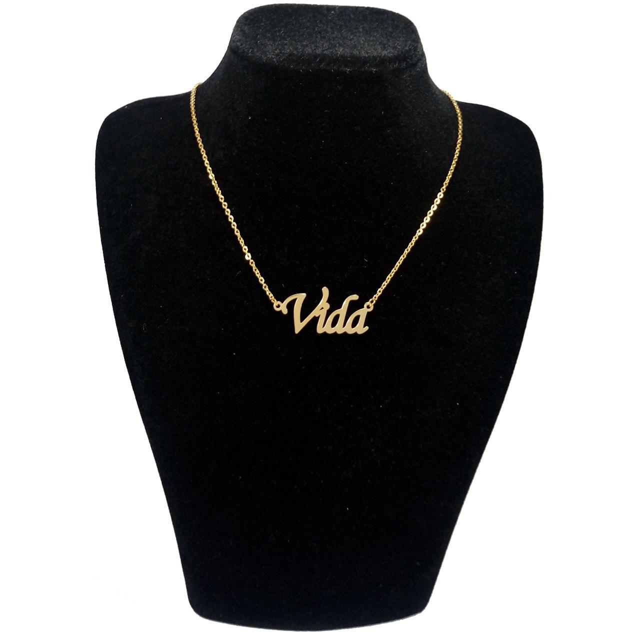 گردنبند آی جواهر طرح نام ویدا کد 1100107GE -  - 1