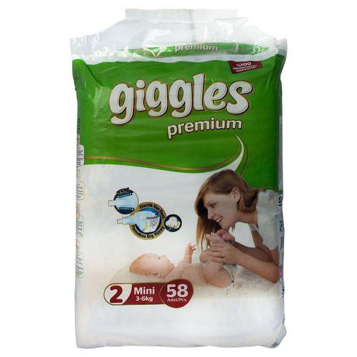 پوشک بچه مدل giggles کدPGB-03 سایز 2 بسته 58 عددی
