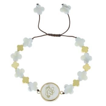 دستبند طلا 18 عیار ماهک مدل MB0404 - مایا ماهک