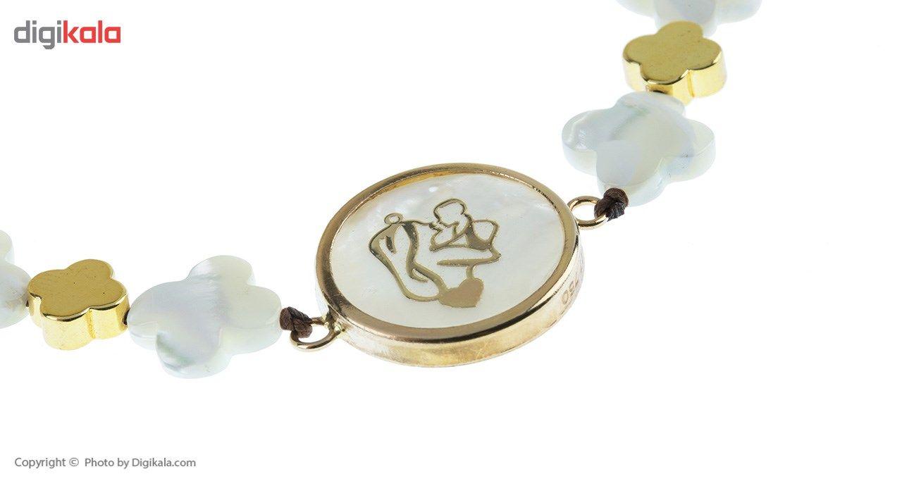دستبند طلا 18 عیار ماهک مدل MB0404 - مایا ماهک -  - 3