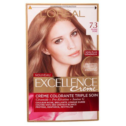 کیت رنگ مو لورآل مدل Excellence شماره 7.3