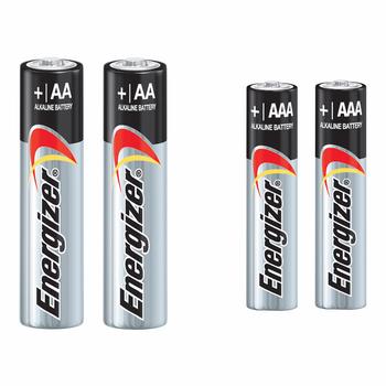 باتری قلمی و نیم قلمی انرجایزر مدل MAX Alkaline بسته 4 عددی