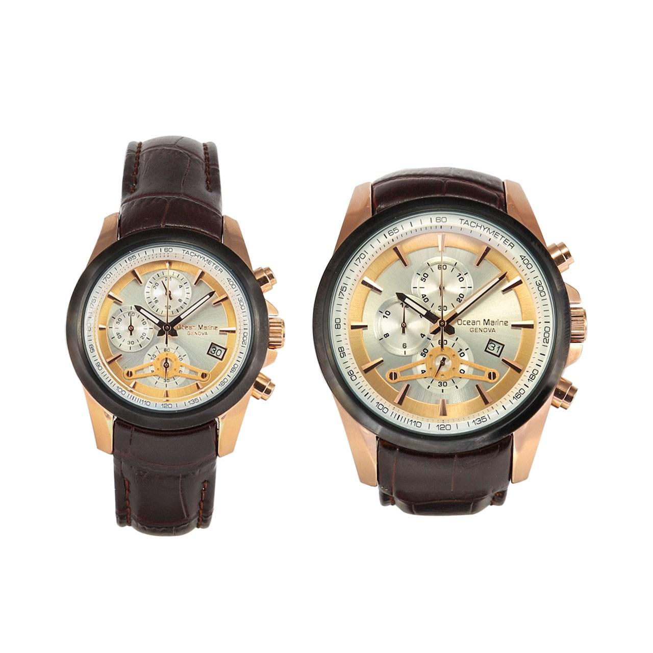 ساعت ست مردانه و زنانه اوشن مارین مدل OM-8102L-2 و OM-8102G-2