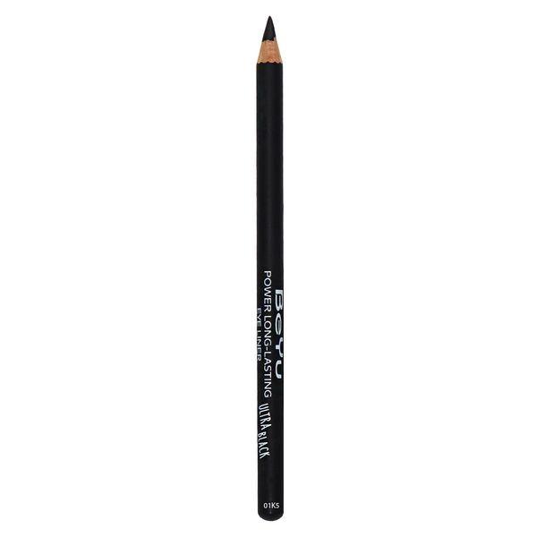 مداد چشم بی یو مدل Power Long- Lasting Ultra Black 01K5