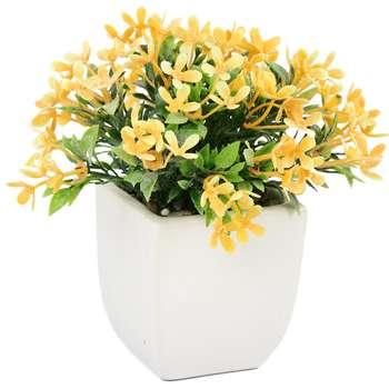 گلدان سرامیک به همراه گل مصنوعی هومز طرح مینا مدل 33507
