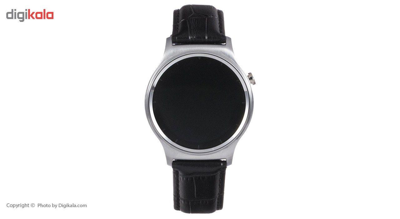 ساعت هوشمند تی تی وای جی موو مدل GW01 silver with black leather strap main 1 2