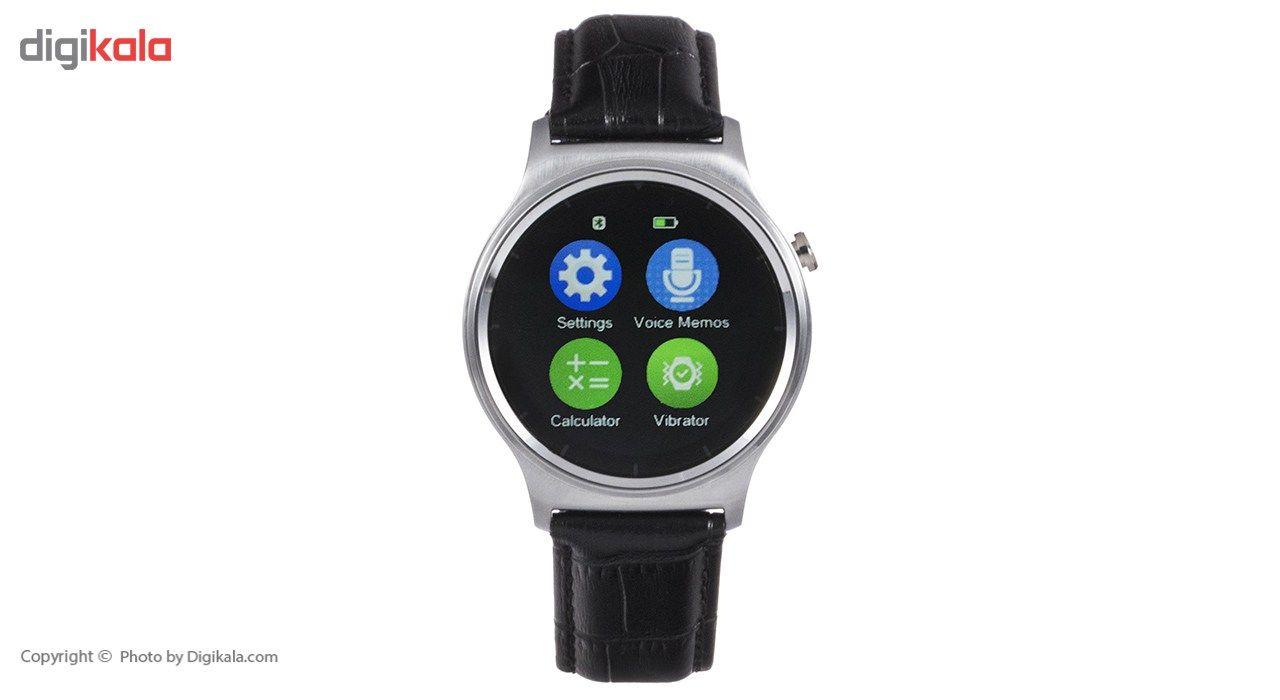 ساعت هوشمند تی تی وای جی موو مدل GW01 silver with black leather strap main 1 7