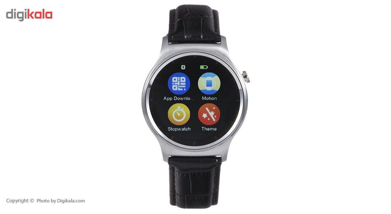ساعت هوشمند تی تی وای جی موو مدل GW01 silver with black leather strap main 1 8