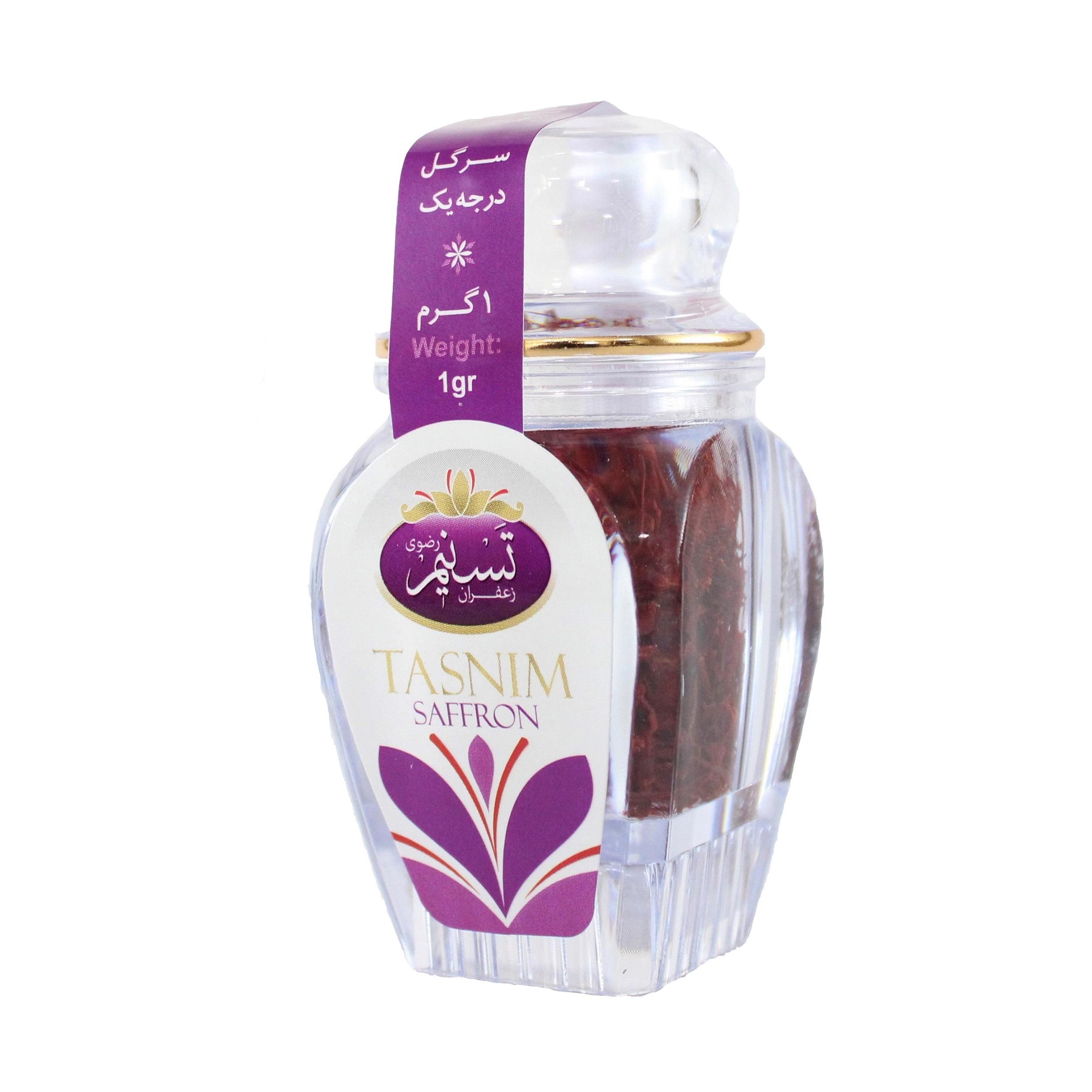 زعفران سرگل درجه یک تسنیم - 1 گرم