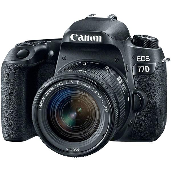 دوربین دیجیتال کانن مدل EOS 77D به همراه لنز 18-55 میلی متر STM
