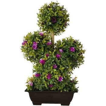 گلدان به همراه درختچه مصنوعی بخشی مدل AN4T112