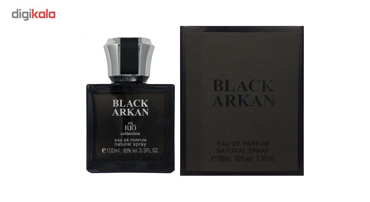 ادو پرفیوم مردانه ریو کالکشن مدل Rio Black Arkan حجم 100ml -  - 2