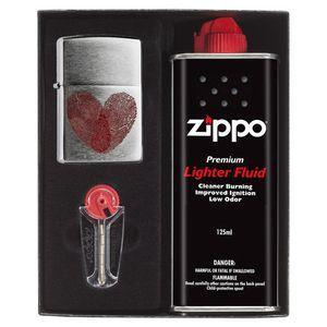 ست هدیه فندک زیپو مدل Heart Thumbprints کد 29068