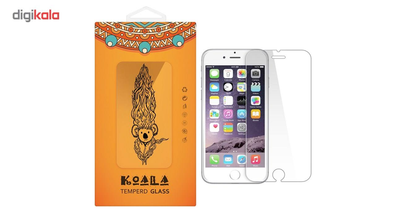 محافظ صفحه نمایش شیشه ای کوالا مدل Tempered مناسب برای گوشی موبایل اپل آیفون 6/6S main 1 1