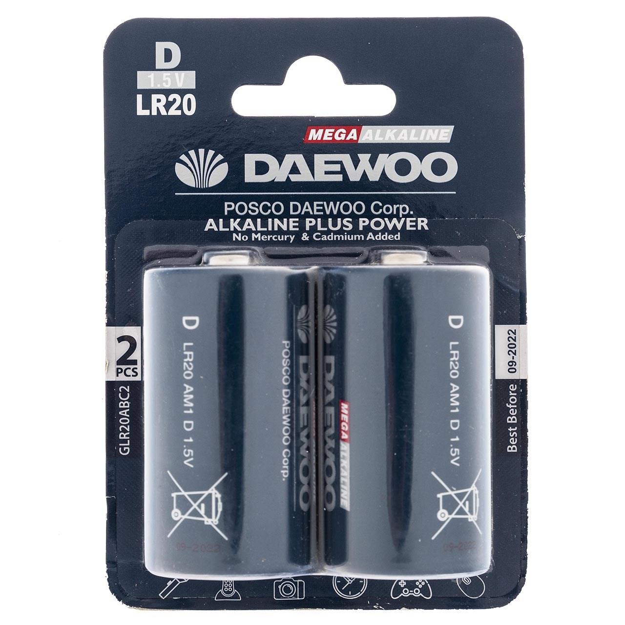 بررسی و {خرید با تخفیف}                                     باتری D دوو مدل Alkaline plus Power بسته 2 عددی                             اصل