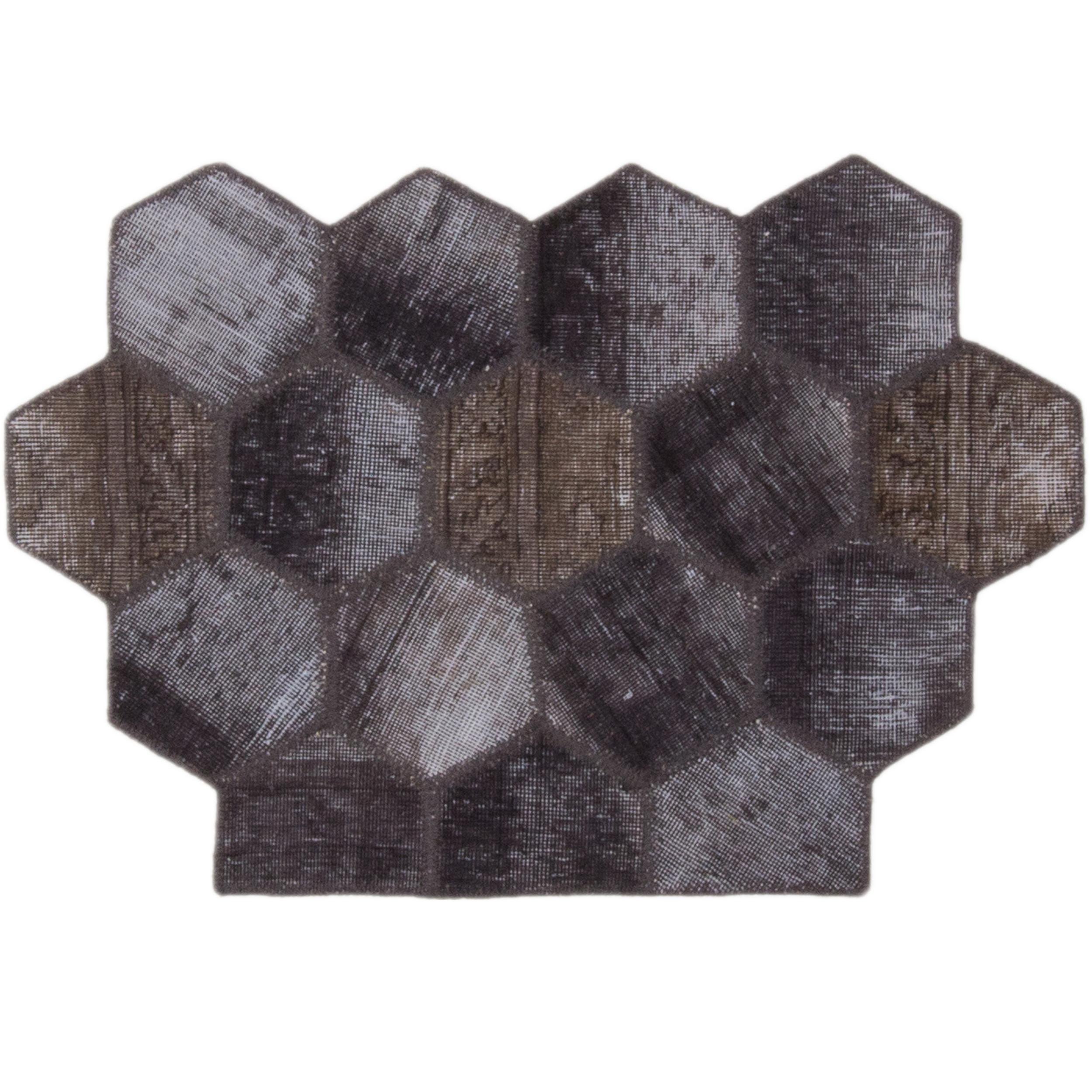 کلاژ فرش دستباف مدل کندو کد11756
