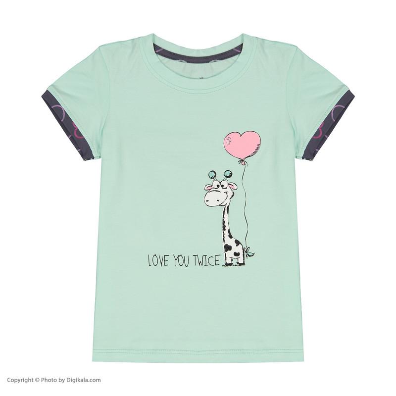 ست تی شرت و شلوار دخترانه ناربن مدل 1521283-54