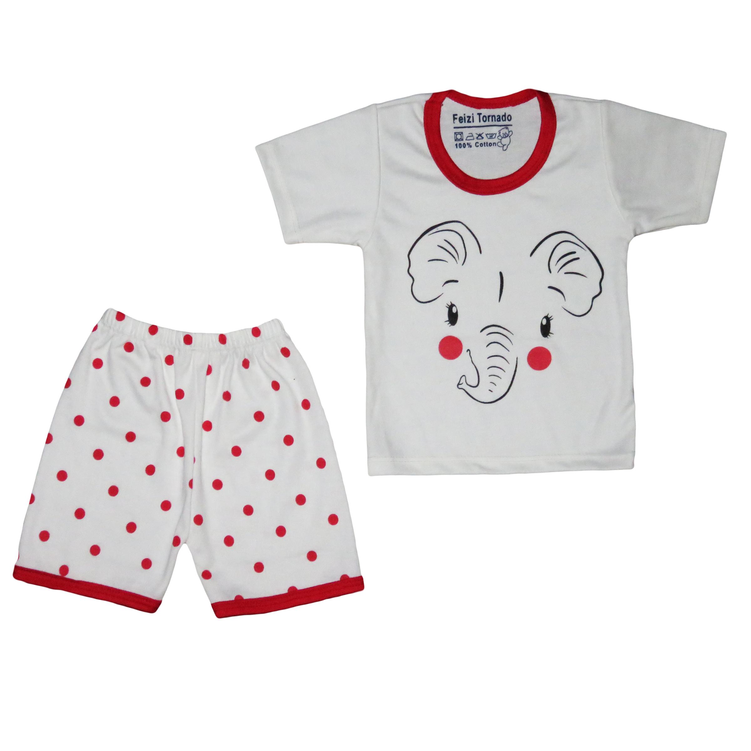 ست تی شرت و شلوارک نوزادی مدل 119