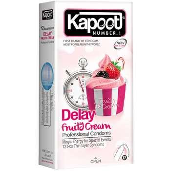کاندوم کاپوت مدل Delay Fruty Cream بسته 12 عددی