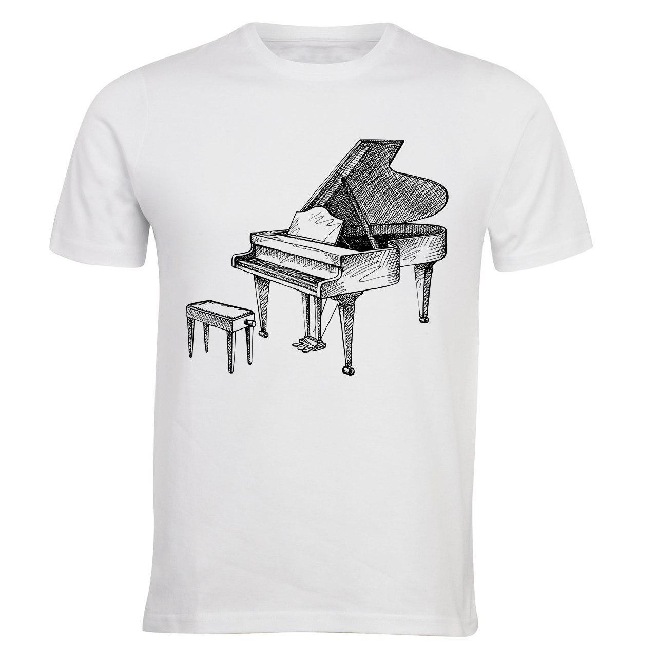 تیشرت مردانه الینور طرح پیانو مدل ELTS20