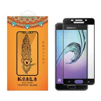 محافظ صفحه نمایش شیشه ای کوالا مدل Full Cover مناسب برای گوشی موبایل سامسونگ Galaxy A3 2016