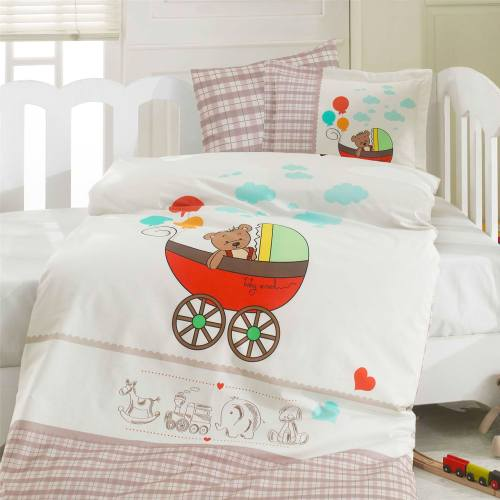 سرویس لحاف 8 تکه خواب نوزاد ازدیلک سری رنفورس طرح Baby car