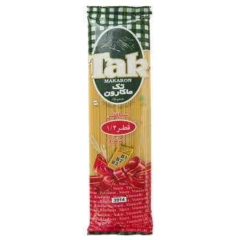 اسپاگتی قطر 1.4 حاوی ویتامین تک ماکارون مقدار 500 گرمی