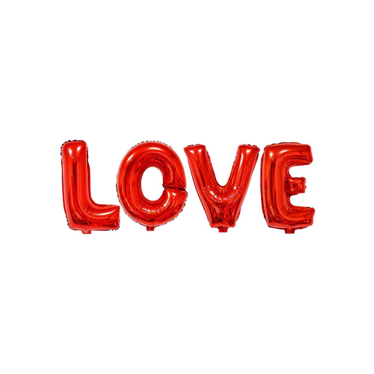 عکس بادکنک فویلی سورتک طرح Love