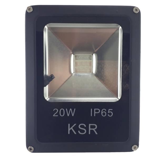 پروژکتور نورپردازی رنگی 20 وات با ریموت مدل RGB