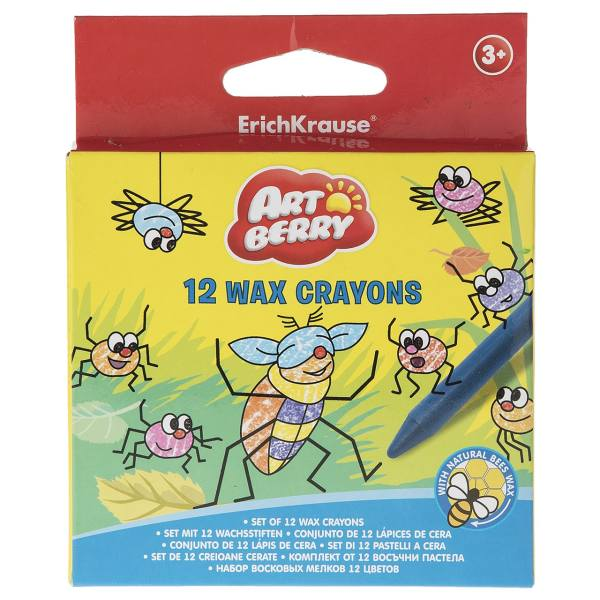 مداد شمعی 12 رنگ اریک کراوزه