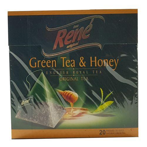 بسته دمنوش میوه ای رنه مدل Green Tea and Honey