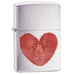 فندک زیپو مدل Heart Thumbprints کد 29068