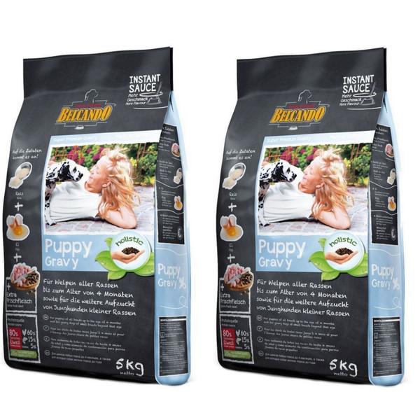 بسته دو عددی غذای خشک سگ بلکاندو مدل Puppy Gravy وزن 1 کیلوگرم