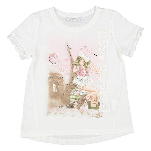 ست تی شرت و شال دخترانه مایورال مدل MA 3060031