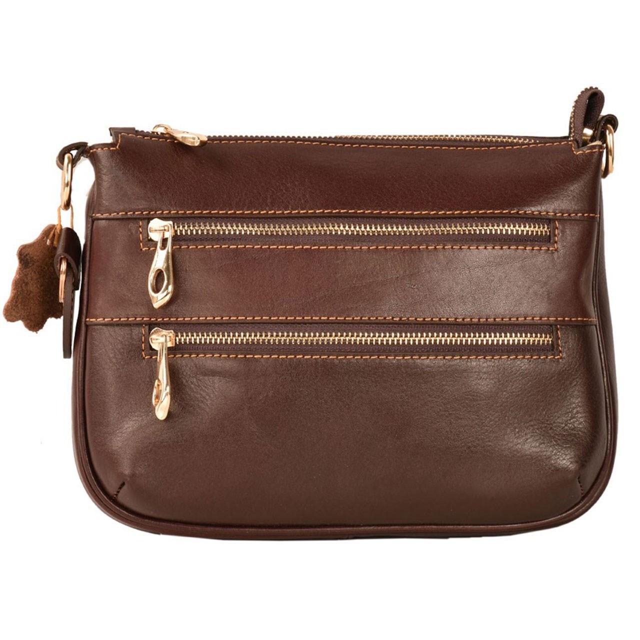 کیف رو دوشی چرم طبیعی کهن چرم مدل V170-7
