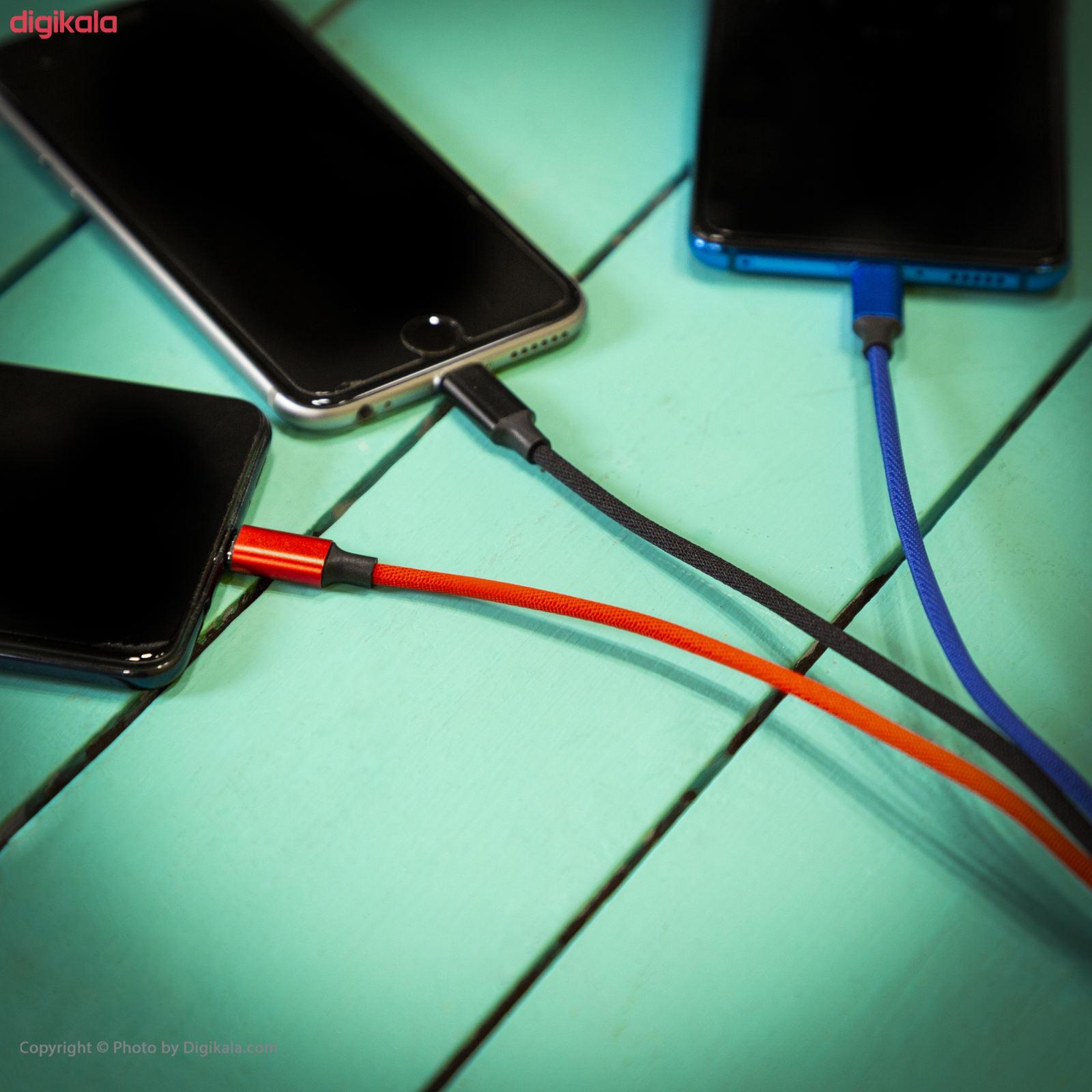 کابل تبدیل USB به لایتنینگ/USB-C/microUSB تاپیکس مدل TS-03 طول 1.2 متر main 1 12