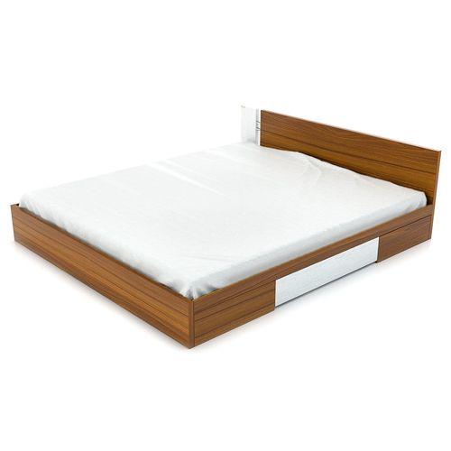 تخت خواب دو نفره فوفل مدل HB 101-A-163-D