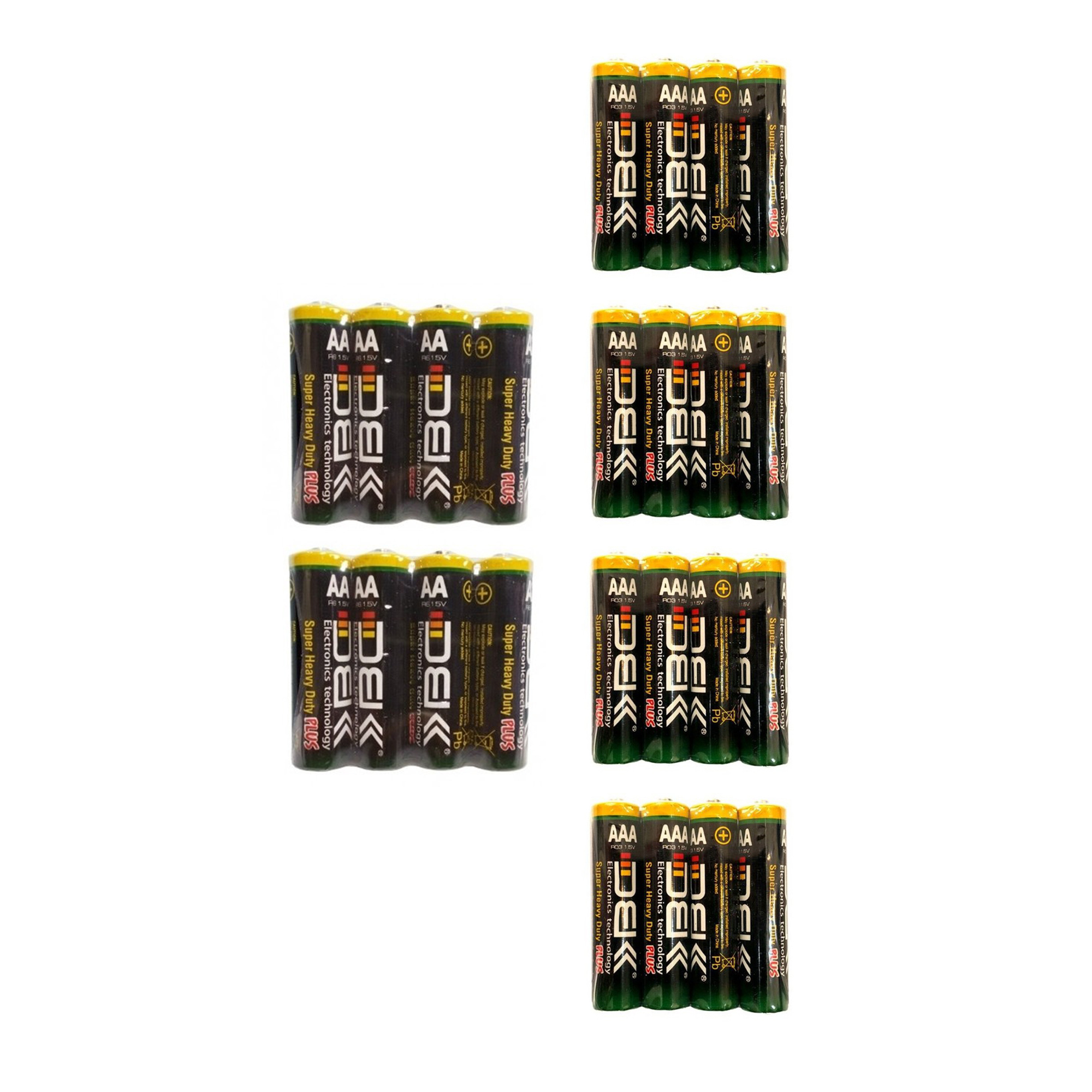 بررسی و {خرید با تخفیف} باتری قلمی و نیم قلمی دی بی کی مدل Super Heavy Duty Plus بسته 24 عددی اصل