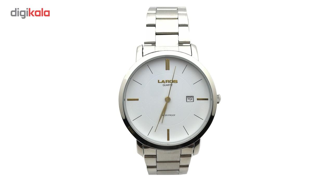 ساعت مچی عقربه ای مردانه لاروس مدل LM-N371-Gold