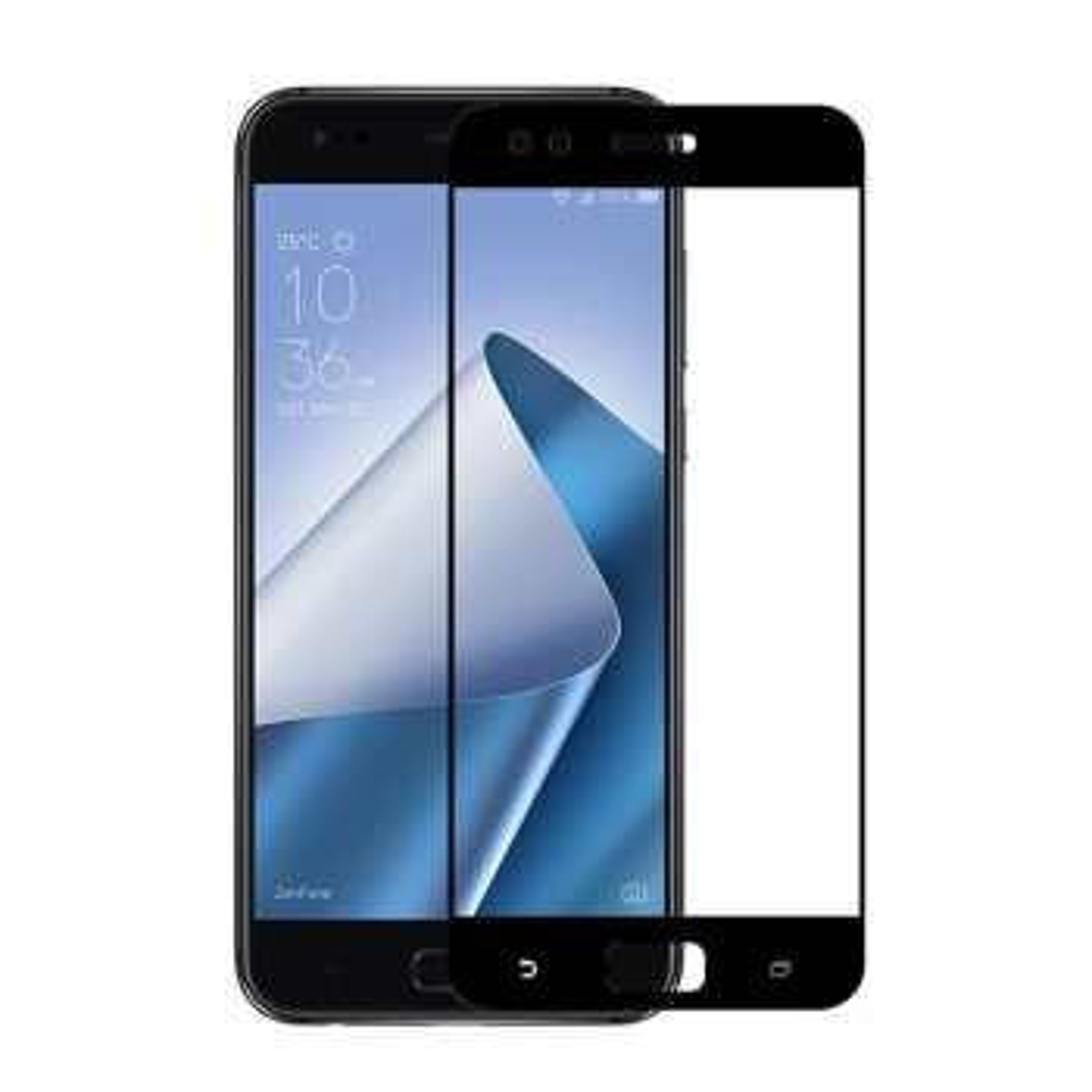 محافظ صفحه نمایش شیشه ای تمپرد مدل Full Cover مناسب برای گوشی موبایل ایسوس Zenfone 4  ZE554KL