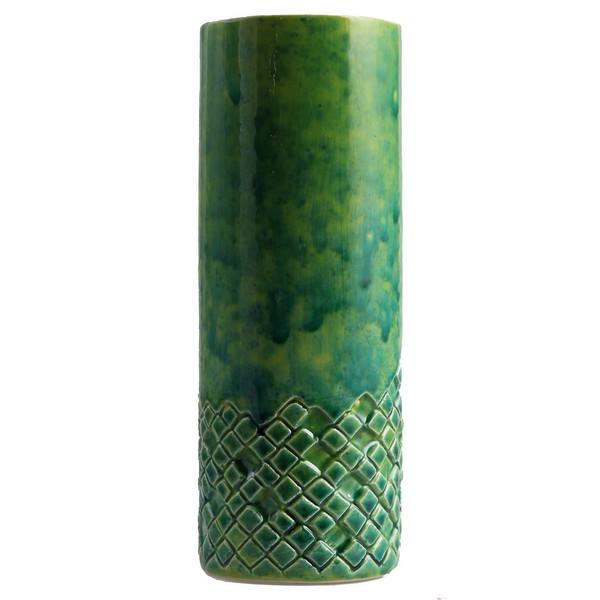 گلدان سرامیکی گالری اروشا مدل خشت سبز کد 103037