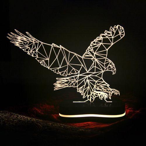 چراغ خواب سه بعدی گالری دکوماس طرح عقاب کد DMS105
