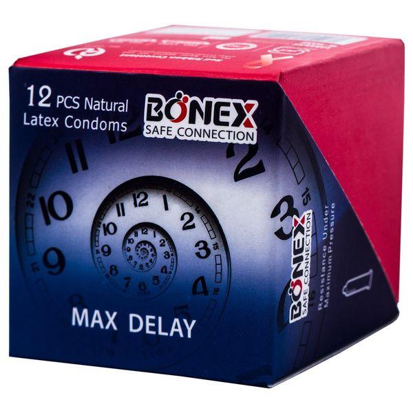 کاندوم بونکس مدل maxdelay بسته 12 عددی