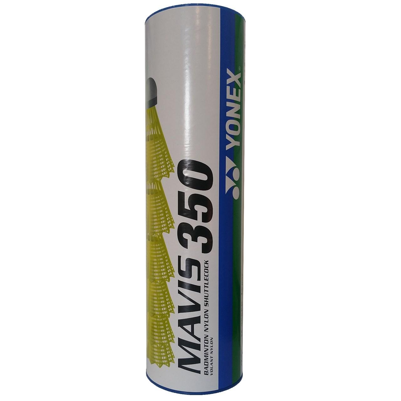 توپ بدمینتون یونکس مدل زرد فسفری Mavis 350 بسته 6 عددی